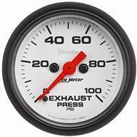 Auto Meter - Autometer Phantom Exhaust Back Pressure 100psi