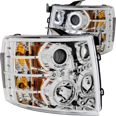 Anzo USA - Anzo USA Projector Headlight Set; w/Halo 111199