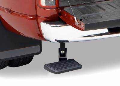 Amp Research  - AMP Research 75306-01A BedStep Retractable Bumper Step for 2019 Ram 1500 Classic, 2009-2018 Dodge Ram 1500, 2010-2018 Dodge Ram 2500/3500 (Excludes Dual Exhaust & EcoDiesel Models)
