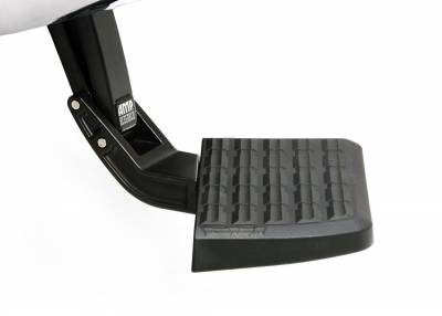Amp Research  - AMP Research 75300-01A BedStep Retractable Bumper Step for 2007-2013 Silverado & Sierra 1500, 2007-2010 Silverado & Sierra 2500/3500 (Excludes 2007 Classic & Flareside Models)