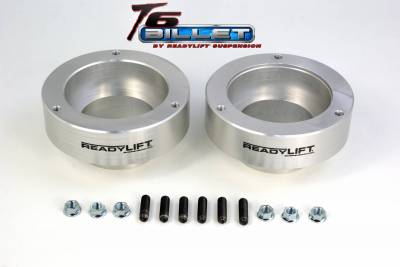 ReadyLift - ReadyLift 2.0in. T6 BILLET ALUMINUM LEVELING KIT ANODIZED, SILVER IN COLOR T6-1090-S