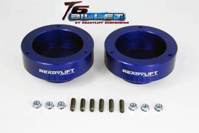 Steering And Suspension - Lift Kits/Leveling Kits - ReadyLift - ReadyLift 2.0in. T6 BILLET ALUMINUM LEVELING KIT ANODIZED, BLUE IN COLOR T6-1090-B