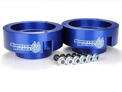 Steering And Suspension - Lift Kits/Leveling Kits - Sinister Diesel - Sinister Diesel Sinister Diesel Leveling Kit for 1994-2009 Dodge 2500/3500 Blue (4wd Only) SD-9409LVL-BLU
