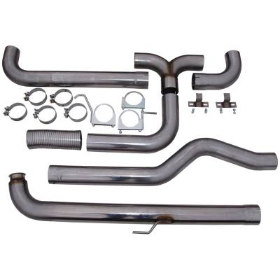 """MBRP - MBRP Exhaust 4"""" Down Pipe Back Dual SMOKERS (incl. front pipe), T409 S8000409 - Image 2"""