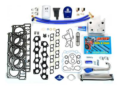 Ford/Powerstroke - Engine Parts - Sinister Diesel - Sinister Diesel Ford 6.0L Complete Solution Package EGR Delete Kit With Coolant filter MKM-6.0-CS-CF