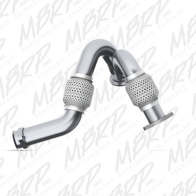 MBRP Exhaust Pipe,Turbo Up Ford Dual AL FAL2313