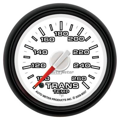 Gauges And Pods - Gauges - Auto Meter - Auto Meter Gauge; Trans Temp; 2 1/16in.; 100-260deg. F; Stepper Motor; Ram Gen 3 Fact. Matc 8557