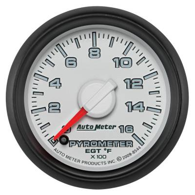 Gauges And Pods - Gauges - Auto Meter - Auto Meter Gauge; Pyro. (EGT); 2 1/16in.; 1600deg. F; Stepper Motor; Ram Gen 3 Fact. Match 8544