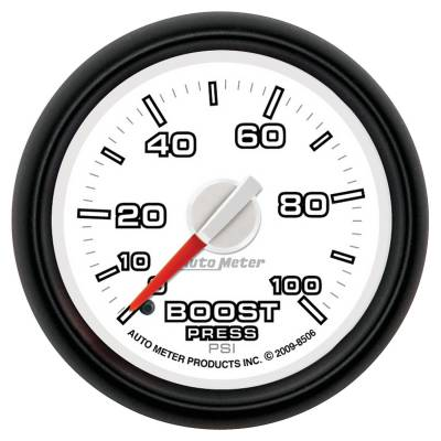 Auto Meter - Auto Meter Gauge; Boost; 2 1/16in.; 100psi; Mechanical; Ram Gen 3 Factory Match 8506