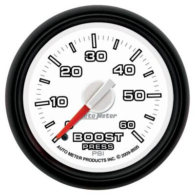 Auto Meter - Auto Meter Gauge; Boost; 2 1/16in.; 60psi; Mechanical; Ram Gen 3 Factory Match 8505