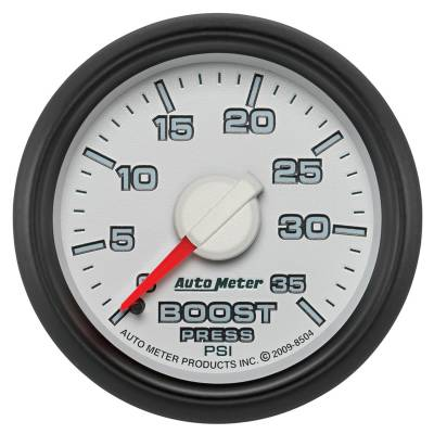 Auto Meter - Auto Meter Gauge; Boost; 2 1/16in.; 35psi; Mechanical; Ram Gen 3 Factory Match 8504