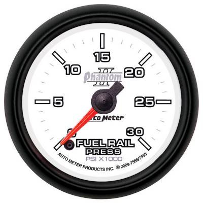 Gauges And Pods - Gauges - Auto Meter - Auto Meter Gauge; Rail Pressure (RAM 6.7L); 2 1/16in.; 30kpsi; Digital Stepper Motor; Phant 7593