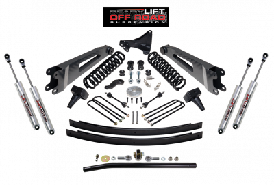 Steering And Suspension - Lift Kits/Leveling Kits - ReadyLift - ReadyLift 5in. Lift- Springs, Leafs, Blocks, Radius Arms, Trac Bar & Shocks TOW PACKAGE 49-2002