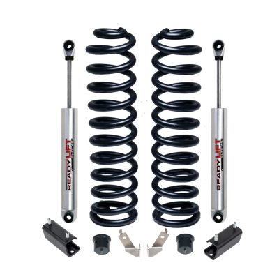 Steering And Suspension - Lift Kits/Leveling Kits - ReadyLift - ReadyLift 2.5in. LIFT FRONT COIL SPRING KIT INCLUDES FRONT SHOCKS 46-2440