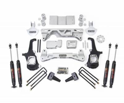 Steering And Suspension - Lift Kits/Leveling Kits - ReadyLift - ReadyLift 2WD ONLY LIFT KIT 5-6in. FRONT 4in. REAR, INCLUDES SHOCKS 44-3250