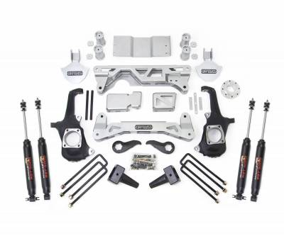 Steering And Suspension - Lift Kits/Leveling Kits - ReadyLift - ReadyLift LIFT KIT - 4WD ONLY 7-8in. FRONT 5in. REAR LIFT KIT W/SHOCKS 44-3051