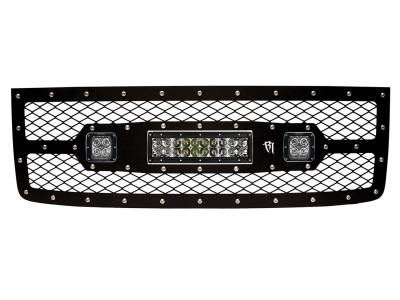 "Exhaust Systems And Components - Stacks - Rigid Industries - Rigid Industries GMC 2500/3500 2011-2013 Grille Kit - 10"" E-Series and Pair Dually/D2 40569"