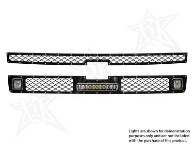 "Exhaust Systems And Components - Stacks - Rigid Industries - Rigid Industries Chevy 2500/3500 - 2011-2013 Grille Kit - 2XDually/D2, 10"" SR-Series 40564"