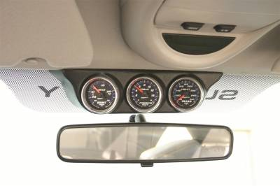 Gauges And Pods - Pods - Auto Meter - Auto Meter Gauge Mount; Overhead Console; Triple; 2 1/16in.; Ram 03-08/Super Duty 99-04 18017