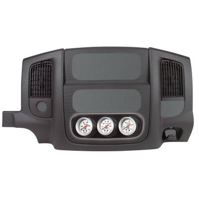 Dodge/Cummins - Gauges And Pods - Auto Meter - Auto Meter Gauge Mount; Dash Console Bezel; Triple; 2 1/16in.; Dodge Ram 03-05 15021