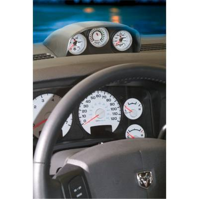 Dodge/Cummins - Gauges And Pods - Auto Meter - Auto Meter Gauge Mount; Dash Top; Triple; 2 1/16in.; Dodge Ram 03-09 15020