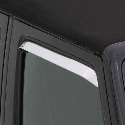 Exterior Accessories - Window Deflectors/Bug Shields - Auto Ventshade (AVS) - Auto Ventshade (AVS) AVS - VENTSHADE - 2PC STAINLESS 12099