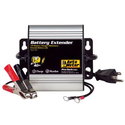 Battery - Chargers - Auto Meter - Auto Meter Battery Charger/Maintainer; 12V/16V; 1A charge/250mA maintain; Batt Extndr 9202