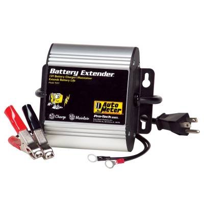 Battery - Chargers - Auto Meter - Auto Meter Battery Charger/Maintainer; 12V; 1A charge/250mA maintain; Battery Extender 9201