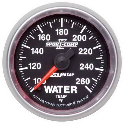 Engine Parts - Cooling System - Auto Meter - Auto Meter Gauge; Water Temp; 2 1/16in.; 100-260deg. F; Digital Stepper Motor; Sport-Comp I 3655
