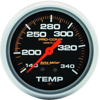 Engine Parts - Cooling System - Auto Meter - Auto Meter Gauge; Temperature; 2 5/8in.; 140-280deg. F; Liquid Filled Mech; 8ft.; Pro-Comp 5435