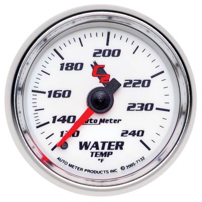 Engine Parts - Cooling System - Auto Meter - Auto Meter Gauge; Water Temp; 2 1/16in.; 120-240deg. F; Mechanical; C2 7132