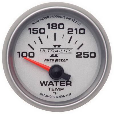 Engine Parts - Cooling System - Auto Meter - Auto Meter Gauge; Water Temp; 2 1/16in.; 100-250deg. F; Electric; Ultra-Lite II 4937