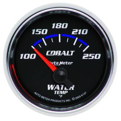 Engine Parts - Cooling System - Auto Meter - Auto Meter Gauge; Water Temp; 2 1/16in.; 100-250deg. F; Electric; Cobalt 6137