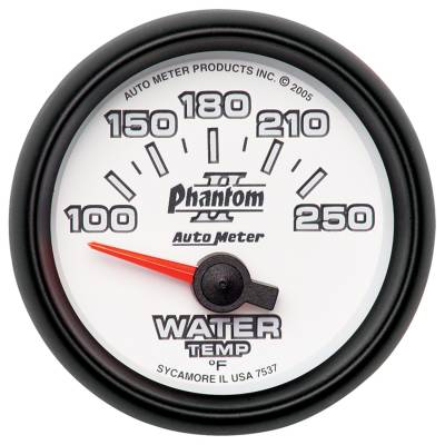 Engine Parts - Cooling System - Auto Meter - Auto Meter Gauge; Water Temp; 2 1/16in.; 100-250deg. F; Electric; Phantom II 7537