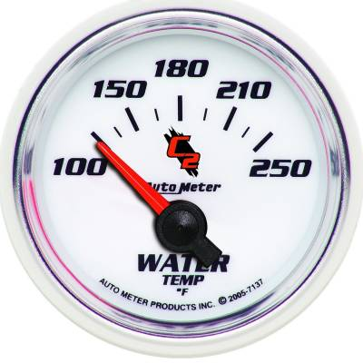 Engine Parts - Cooling System - Auto Meter - Auto Meter Gauge; Water Temp; 2 1/16in.; 100-250deg. F; Electric; C2 7137