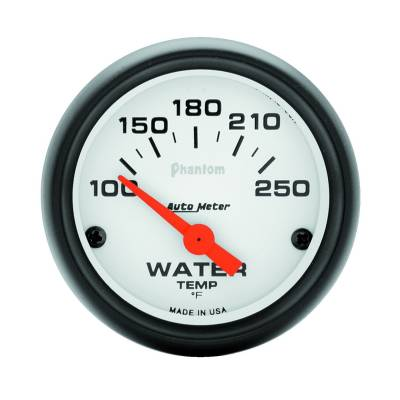 Engine Parts - Cooling System - Auto Meter - Auto Meter Gauge; Water Temp; 2 1/16in.; 100-250deg. F; Electric; Phantom 5737