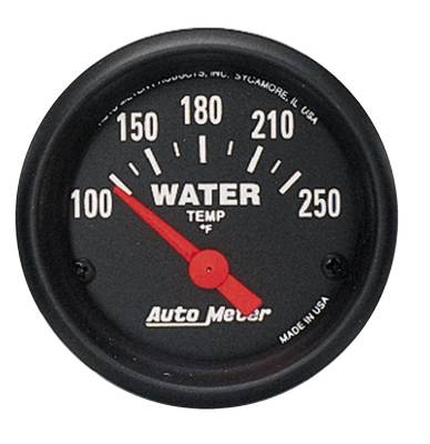 Engine Parts - Cooling System - Auto Meter - Auto Meter Gauge; Water Temp; 2 1/16in.; 100-250deg. F; Electric; Z Series 2635