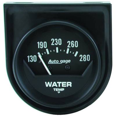 Engine Parts - Cooling System - Auto Meter - Auto Meter Gauge Console; Water Temp; 2in.; 280deg. F; Mech; Short Sweep; Black; AutoGage 2361