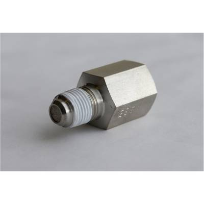 Fuel System - Auto Meter - Auto Meter Fitting; Snubber Adapter;-4AN Male to 1/8in. NPT Male; Steel; for Fuel Pressure 3279