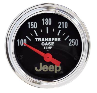 Gauges And Pods - Auto Meter - Auto Meter Gauge; Transfer Case Temp; 2 1/16in.; 250deg. F; Elec; Jeep 880430