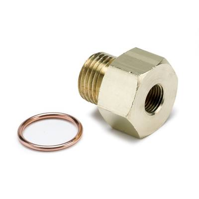 Gauges And Pods - Gauges - Auto Meter - Auto Meter Fitting; Adapter; Metric; M16x1.5 Male to 1/8in. NPTF Female; Brass 2268