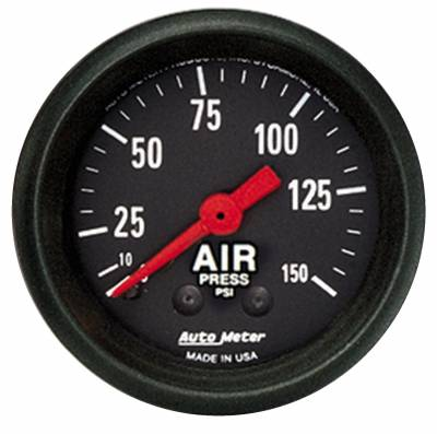 Gauges And Pods - Auto Meter - Auto Meter Gauge; Air Press; 2 1/16in.; 150psi; Mechanical; Z Series 2620