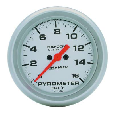 Gauges And Pods - Gauges - Auto Meter - Auto Meter 2-5/8in. E.G.T. PYROMETER; 0-1600 F; FSE; UL 4443