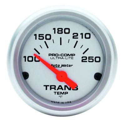 Transmission - Transmission Overhaul Kits And Parts - Auto Meter - Auto Meter Gauge; Transmission Temp; 2 1/16in.; 100-250deg. F; Electric; Ultra-Lite 4357