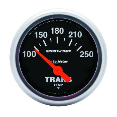 Transmission - Transmission Overhaul Kits And Parts - Auto Meter - Auto Meter Gauge; Transmission Temp; 2 1/16in.; 100-250deg. F; Electric; Sport-Comp 3357