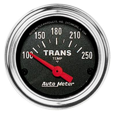 Transmission - Transmission Overhaul Kits And Parts - Auto Meter - Auto Meter Gauge; Trans Temp; 2 1/16in.; 100-250deg. F; Electric; Traditional Chrome 2552