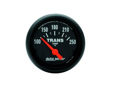 Transmission - Transmission Overhaul Kits And Parts - Auto Meter - Auto Meter Gauge; Transmission Temp; 2 1/16in.; 100-250deg. F; Electric; Z Series 2640