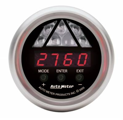 Lighting - Auto Meter - Auto Meter Gauge; Shift Light; Digital RPM w/Amber LED Light; DPSS Level 1; Sport-Comp 3387