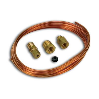Piping/Tubing - Auto Meter - Auto Meter Tubing; Copper; 1/8in.; 6ft. Length; incl. 1/8in. NPTF brass compression fitting 3224