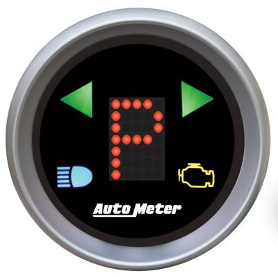 Transmission - Transmission Overhaul Kits And Parts - Auto Meter - Auto Meter Gauge; Gear Pos; 2 1/16in.; incl indicators; Black Dial; Red LED; Silver Bezel 3359